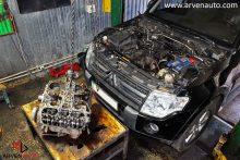 Снятие двигателя для полной разборки и дефектовки.