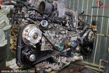 Завершение сборки EJ20 от Subaru. Осталось установить клапанные крышки и крышки ремня ГРМ.