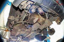 Снятие подрамника и рычагов передней подвески для замены сайлентблоков.